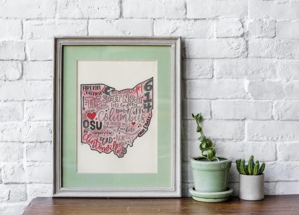Columbus Themed Lettered Ohio