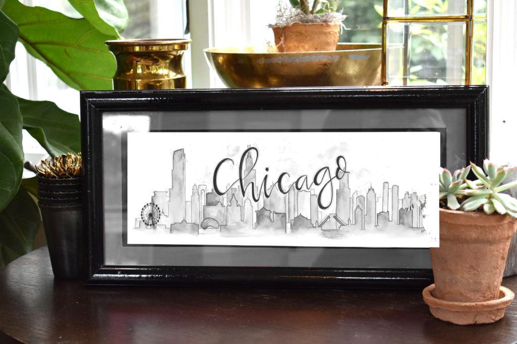 Chicago Skyline (Black and White)