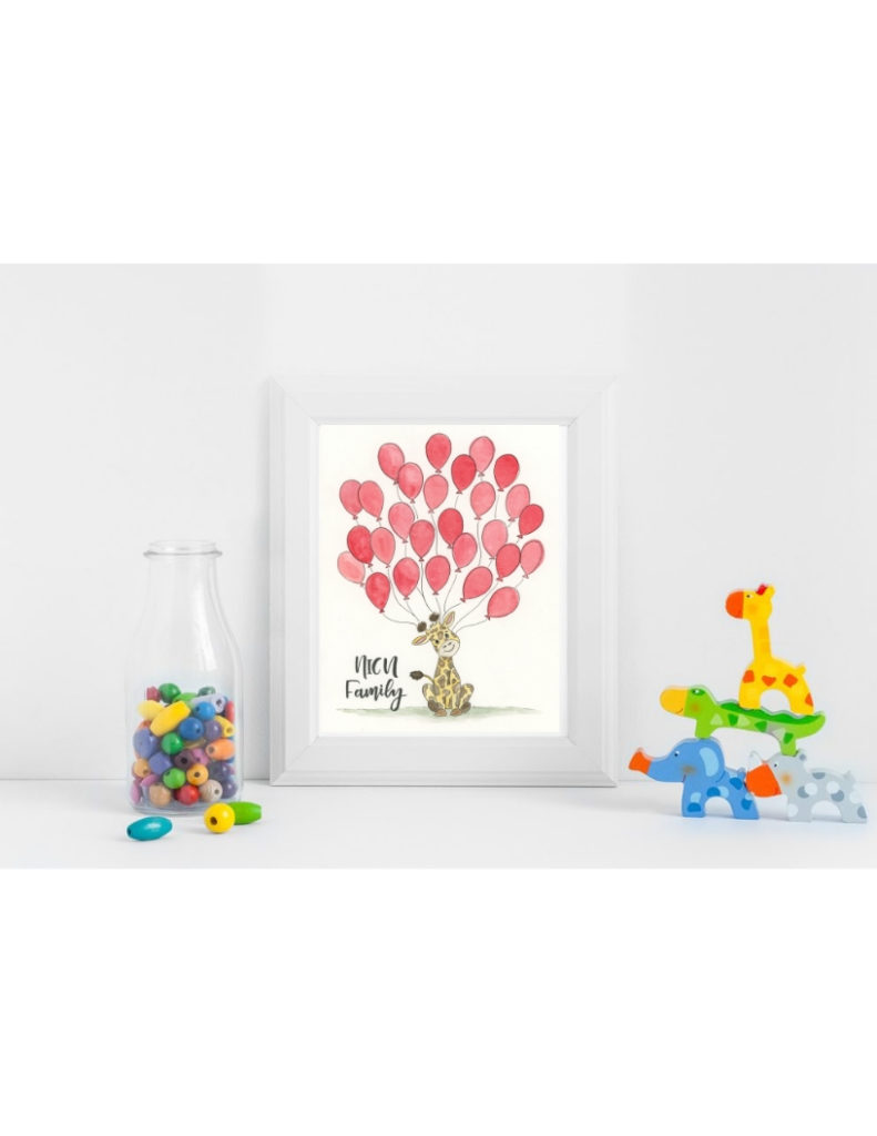 Red Giraffe NICU Poster