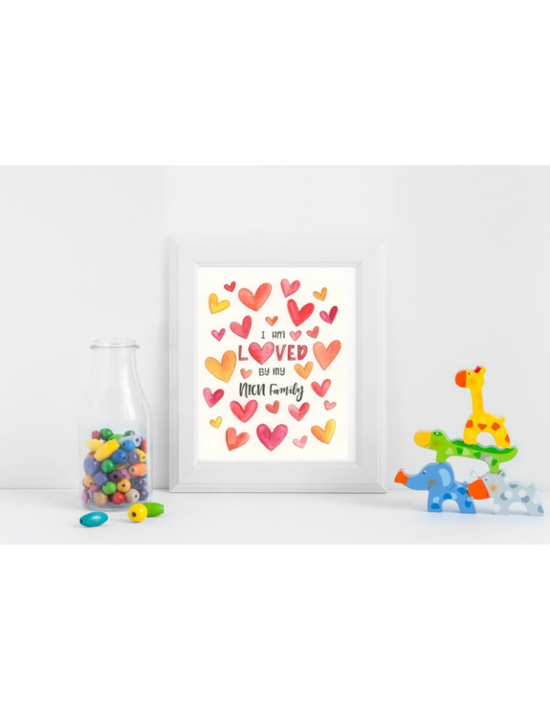 Warm Colored Hearts NICU Poster