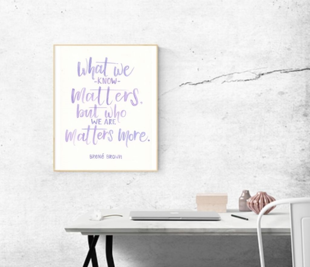 What We Know Matters Brene Brown